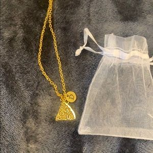 """Jewelry - New initial """"D"""" pizza necklace"""